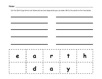 Earth Day Fun Packet