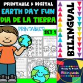 Earth Day Fun - Tierra Divertida - No-Prep Printables - Bilingual