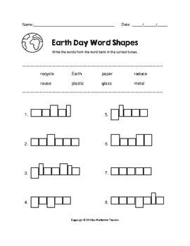 Earth Day Fun Worksheet Pack (K-2)