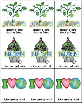 Earth Day Game Pack - Math & Literacy