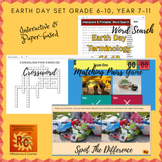 Earth Day Interactive Games & Puzzles Bundle Grade 6-10