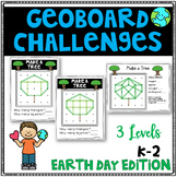 Earth Day Geoboard Geometry Challenges - Holiday Task Cards-Fine Motor Skills