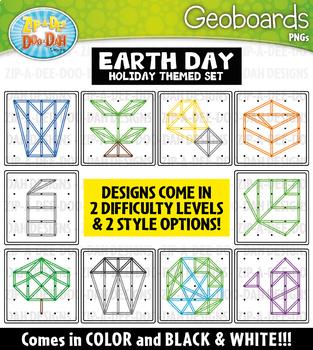 Earth Day Geoboards Clipart {Zip-A-Dee-Doo-Dah Designs}