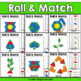 Earth Day Geometry Pattern Blocks Mat Roll Match Activity