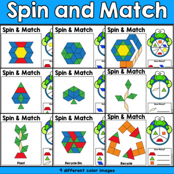 Earth Day Geometry Pattern Blocks Math Center