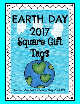 Earth Day Gift Tags 2017