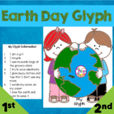 Earth Day Glyph for April Read and Color Glyph