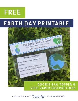 Earth Day Goodie Bag Printable