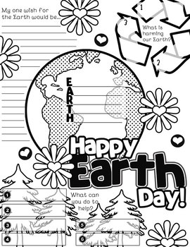 Earth Day Graphic Organizer Activity Poster Freebie