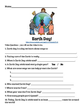 Earth Day Guided Video Notes