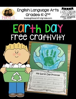 Earth Day Hand Print Craftivity- Free