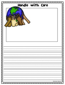 Earth Day Handle with Care Writing