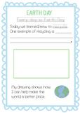 Earth Day Handwriting Activity