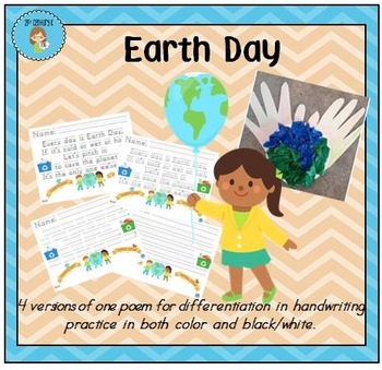 """Earth Day"" Handwriting Practice"