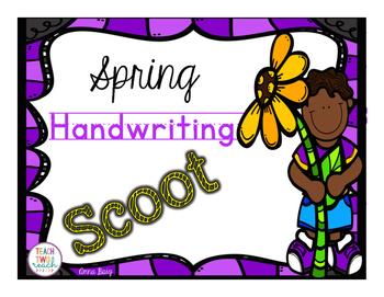 #presidentsdaydeals Spring Themed Handwriting Scoot