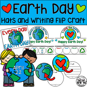 Earth Day Headband, Necklace, and Writing Flip Craft