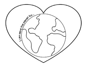 Earth Day Heart Craftivity