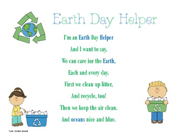 Earth Day Helper Song