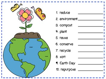 Earth Day Hidden Word
