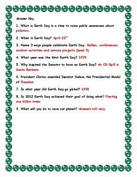 Earth Day (History)- Using QR Code