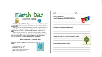Earth Day Homework Project