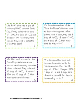Earth Day- Hooray! Place Value Extension Cards