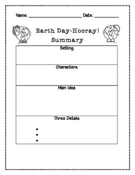 Earth Day Hooray Summary Graphic Organizer