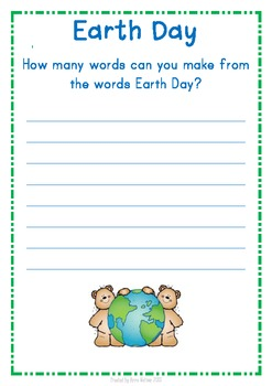 Earth Day - How Many Words?