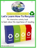 EARTH DAY - Adapted Book RECYCLE In The Community