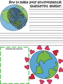 """Earth Day """"How To"""" Writing Activity"""
