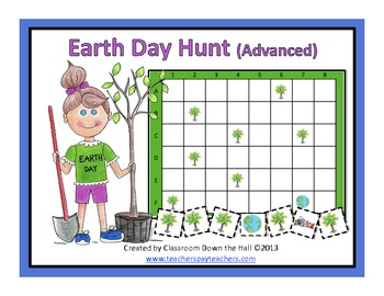 Earth Day Hunt (Advanced): A Math Game to celebrate Earth Day