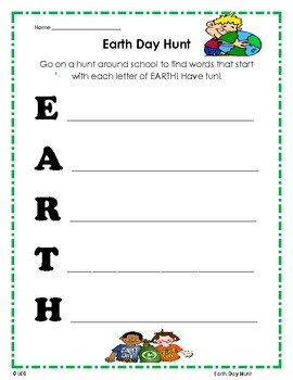 Earth Day Hunt! Fun!