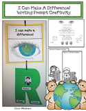 """Earth Day: """"I Can Make A Difference!"""" Writing Prompt Craftivity"""