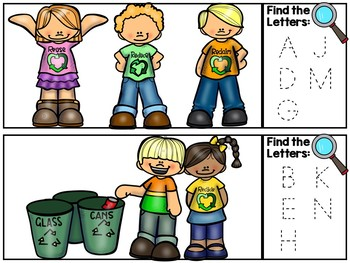 Earth Day I Spy Alphabet Literacy Center - Earth Day Letters