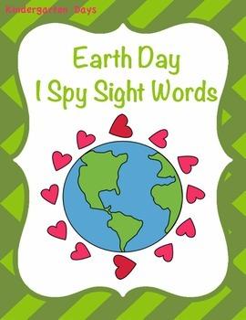 Earth Day I Spy Sight Words