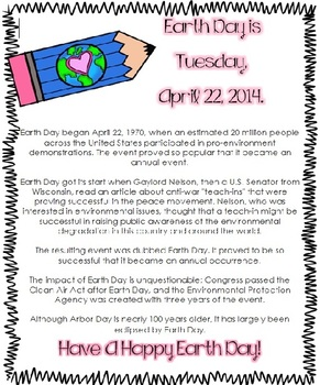 Earth Day Informational Text