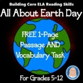 Earth Day Informational Text Passage and Vocabulary Task