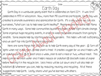 Earth Day Informative Reading & Writing