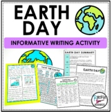 Earth Day Writing Activity- Informative Writing Activity
