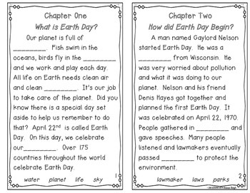 Earth Day Instant Reading Lesson with Cloze Reader