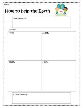 Earth Day Informational Writing Planner