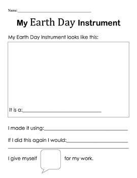 Earth Day Instruments
