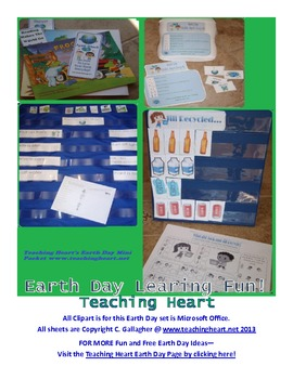 Earth Day Integrated Science, Literacy, and Math Games, Centers, and More!