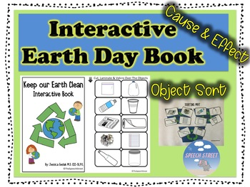 Earth Day Interactive Book Clean & Sort Materials