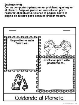 Earth Day Interactive Flipbook {SPANISH}