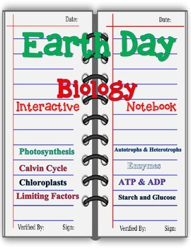 Earth Day Interactive Notebook-Life Science