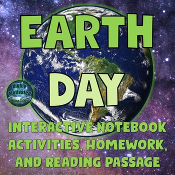 Earth Day Interactive Notebook Activities for Kindergarten