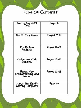 Earth Day Interactive Unit