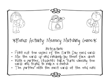 Earth Day Journal Jar/ Grab Bag Writing Activity