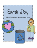 Earth Day K - 2 Graphic Organizers with Keys